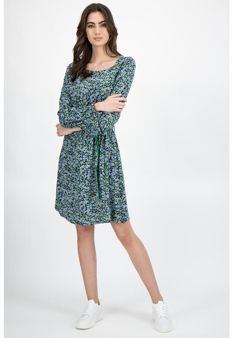 Rochie din viscoza cu imprimeu