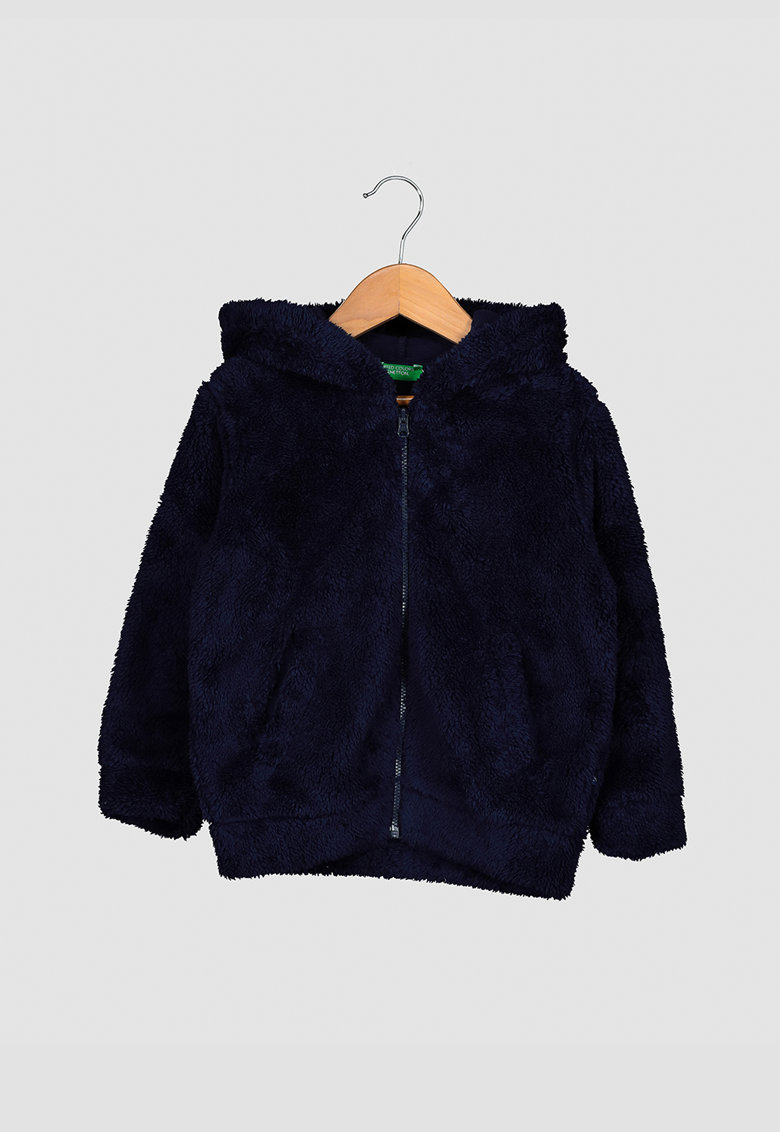 Jacheta de blana sintetica cu gluga