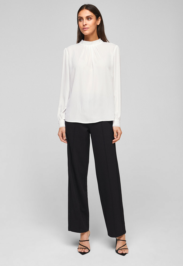 Bluza vaporoasa cu guler scurt s.Oliver fashiondays.ro