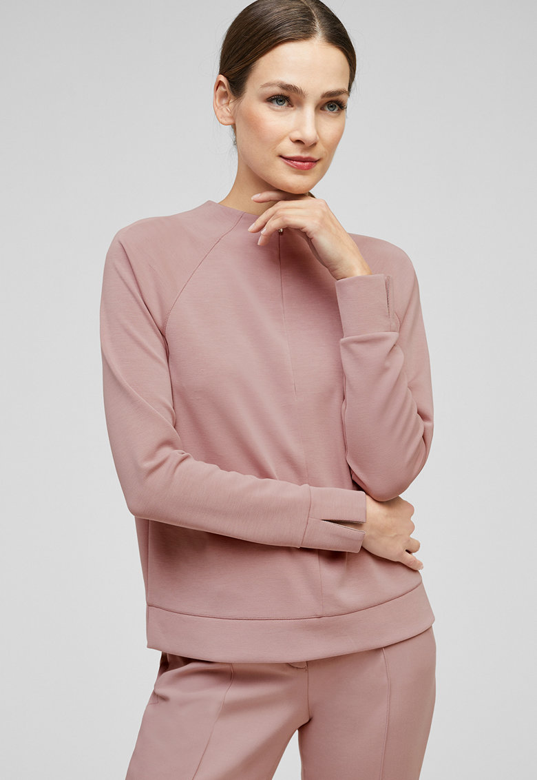 Bluza din amestec de modal - cu maneci raglan
