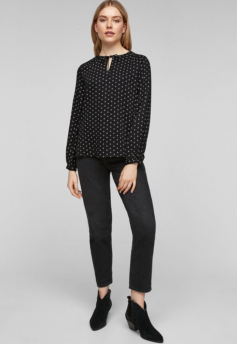 Bluza cu decupaj s.Oliver fashiondays.ro