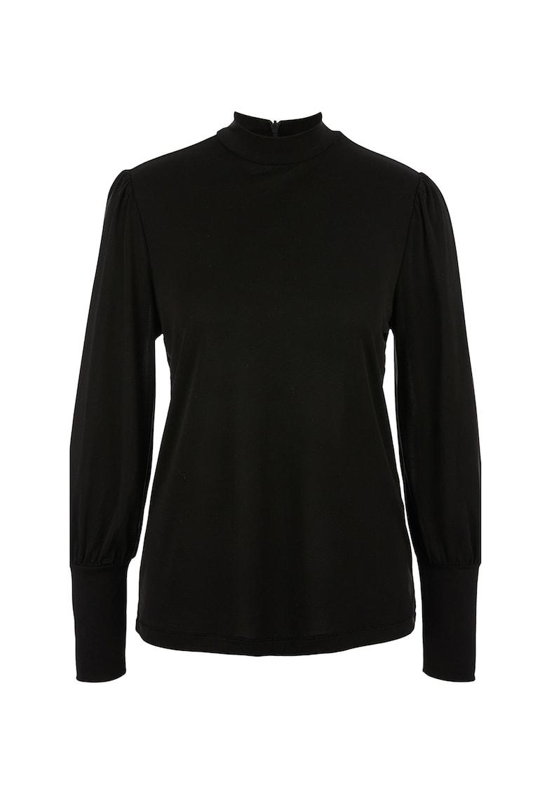 Bluza din amestec de modal cu guler scurt imagine