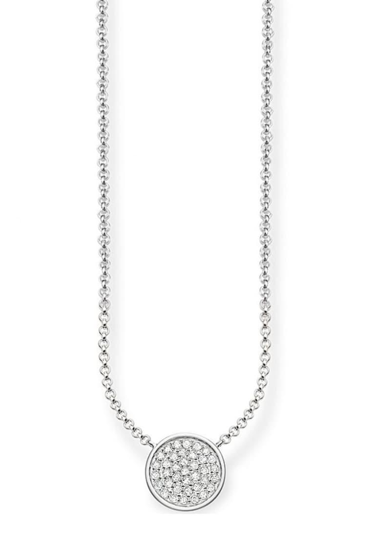 Colier de argint veritabil 925 decorat cu cristale zirconia imagine promotie