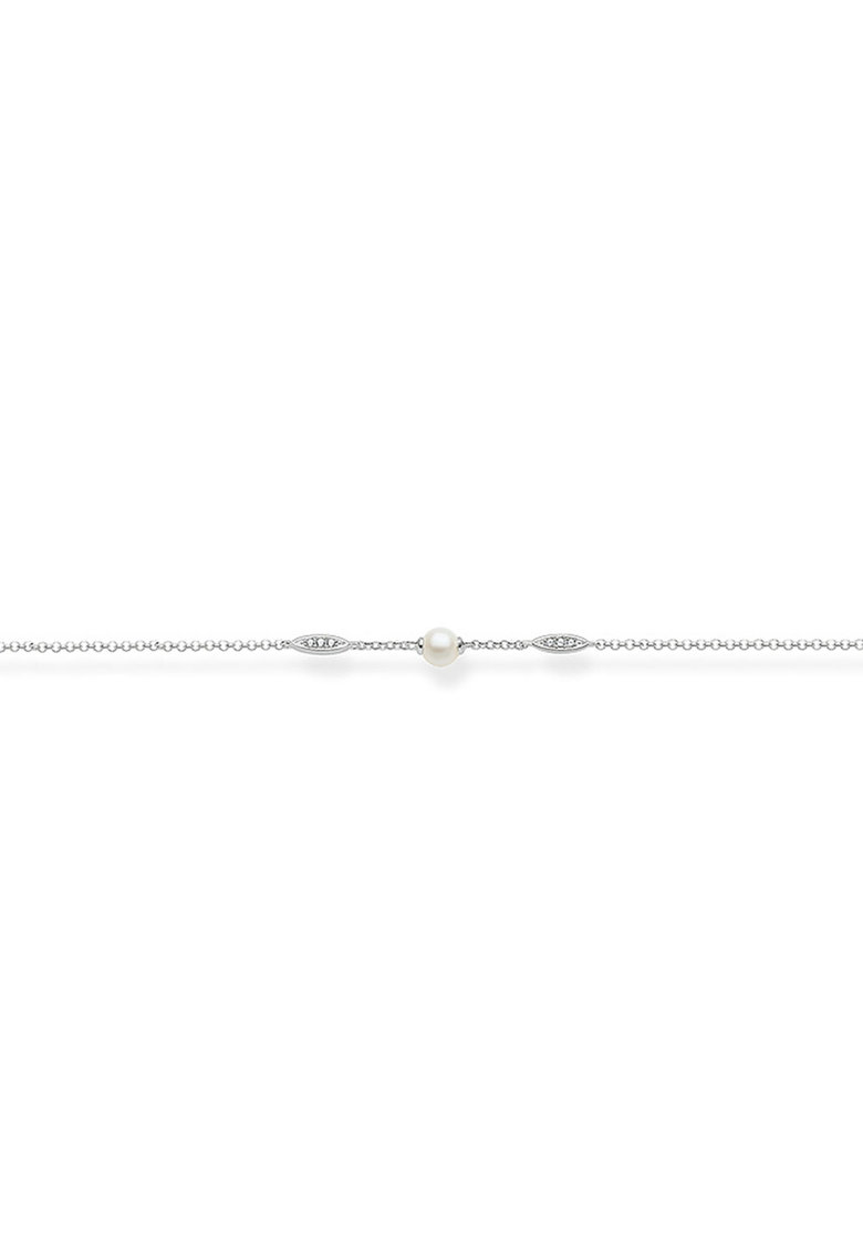 Bratara din argint veritabil 925 decorata cu perle si zirconia imagine promotie
