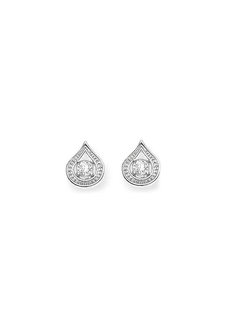 Cercei de argint cu cristale zirconia imagine promotie