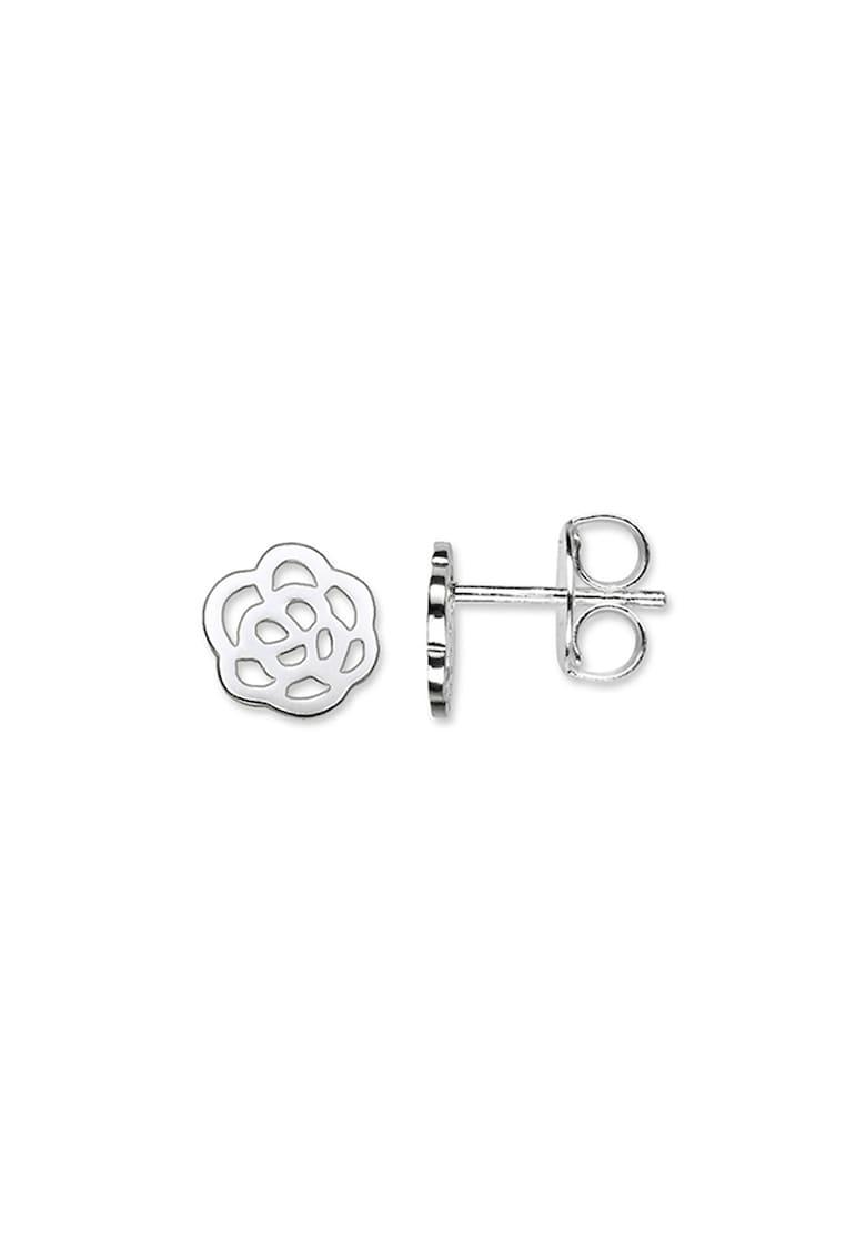 Cercei de argint in forma de trandafir imagine promotie