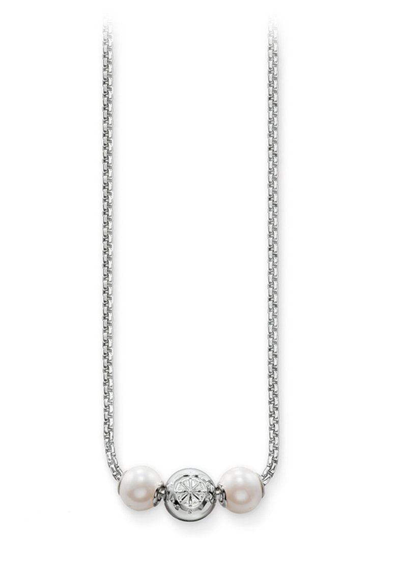 Colier de argint decorat cu perle sintetice si cristale Thomas-Sabo imagine 2021