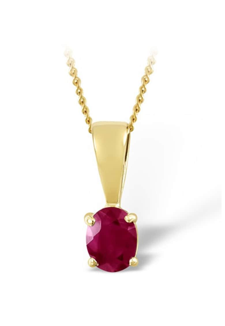 Pandantiv din aur de 18K cu rubin fatetat