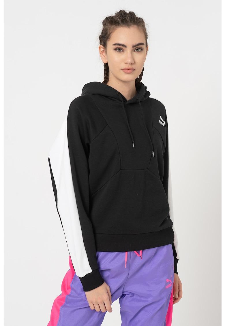 Hanorac cu segmente contrastante Tailored for Sport Puma fashiondays.ro