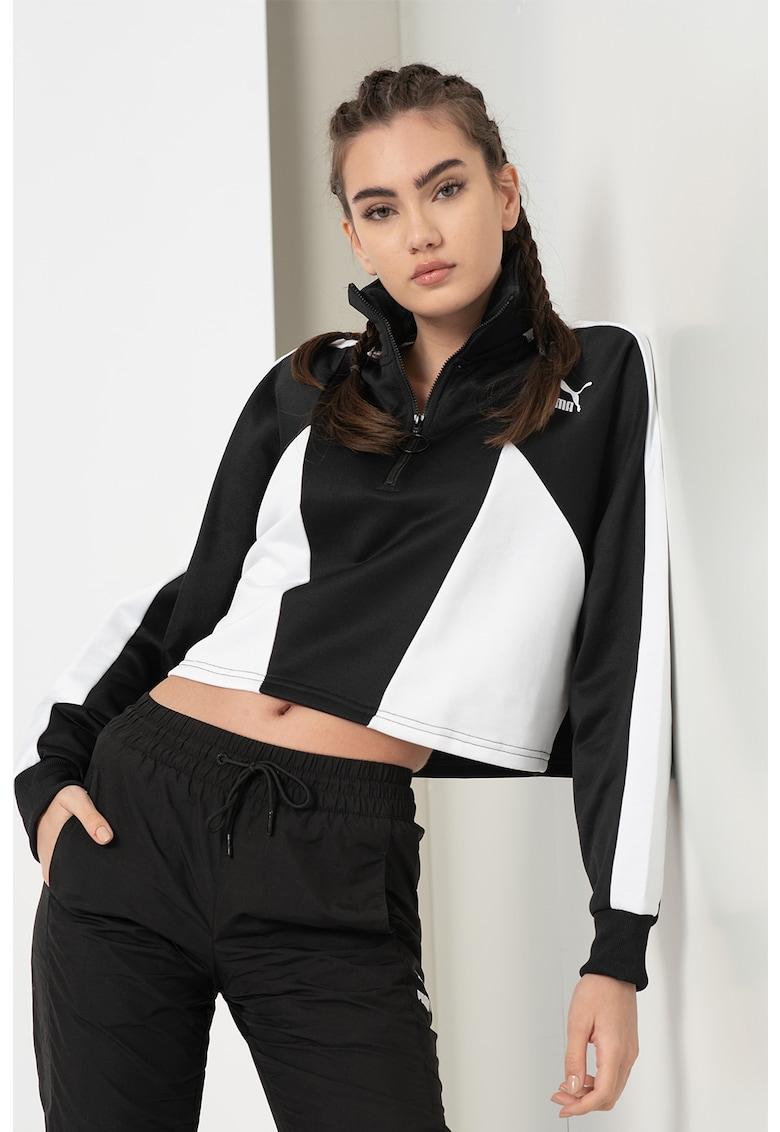 Bluza sport crop cu fermoar scurt Tailored for Sport imagine