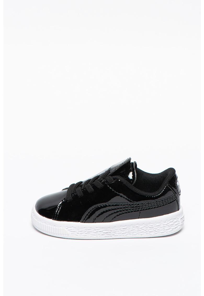 Pantofi sport cu aspect lacuit Basket Crush
