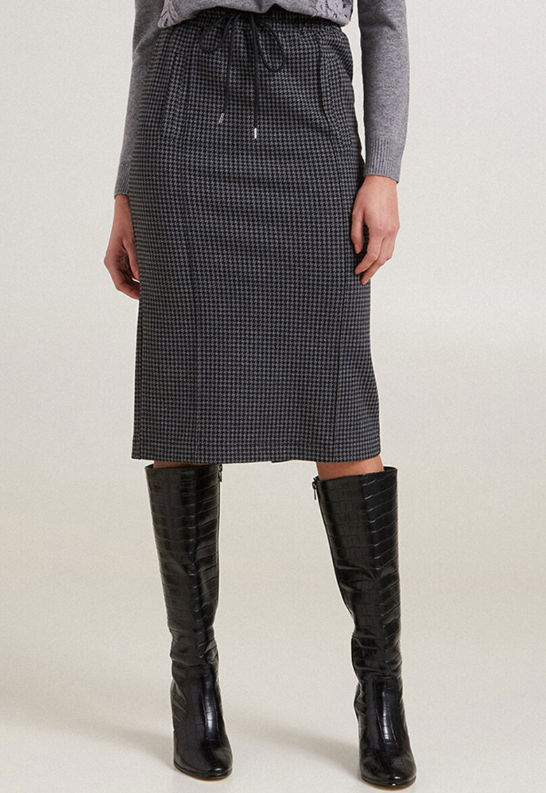 Fusta creion cu model houndstooth imagine promotie