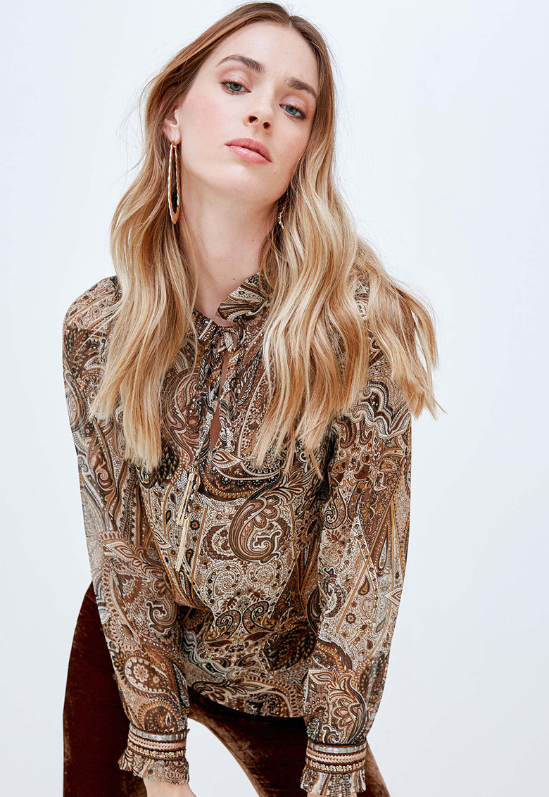Bluza cu imprimeu paisley imagine