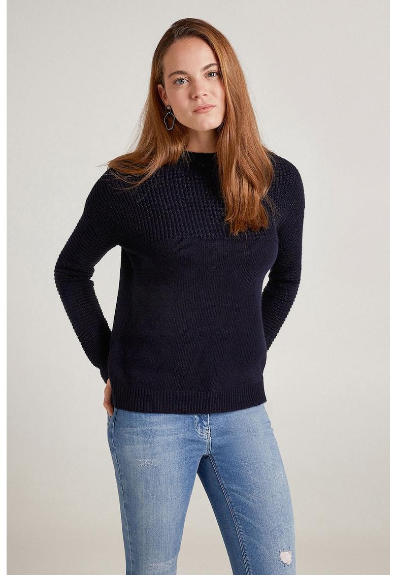 Pulover din amestec de lana - cu aspect striat