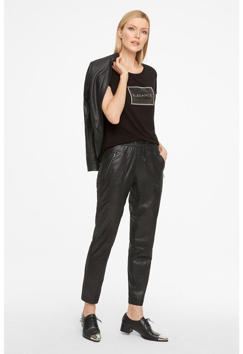 Tricou din amestec de modal cu aplicatii cu strasuri