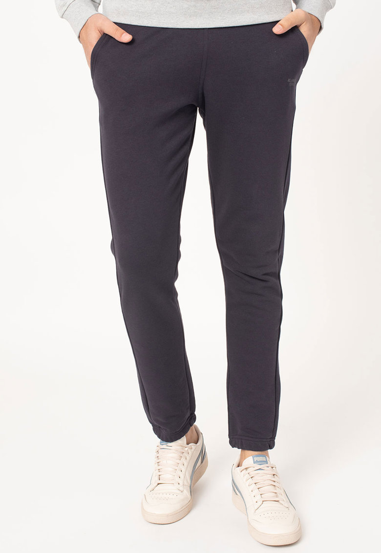 Pantaloni sport conici cu snur in talie imagine