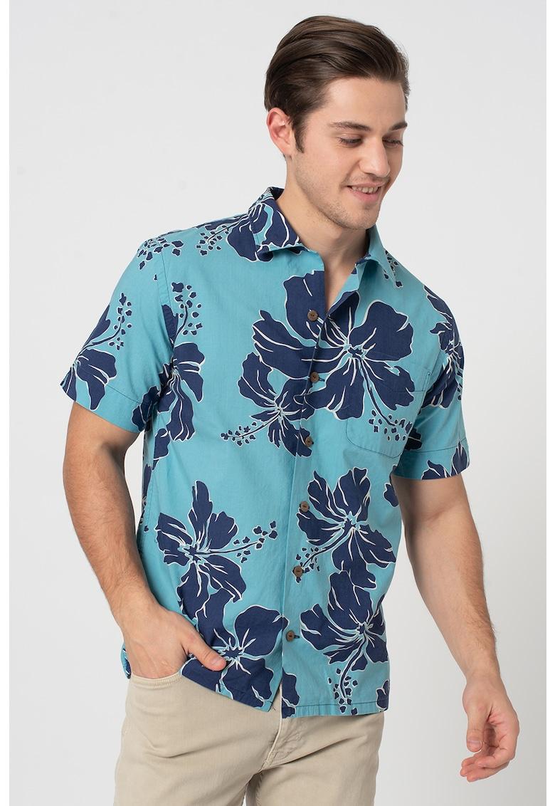 Camasa cu maneci scurte si model tropical