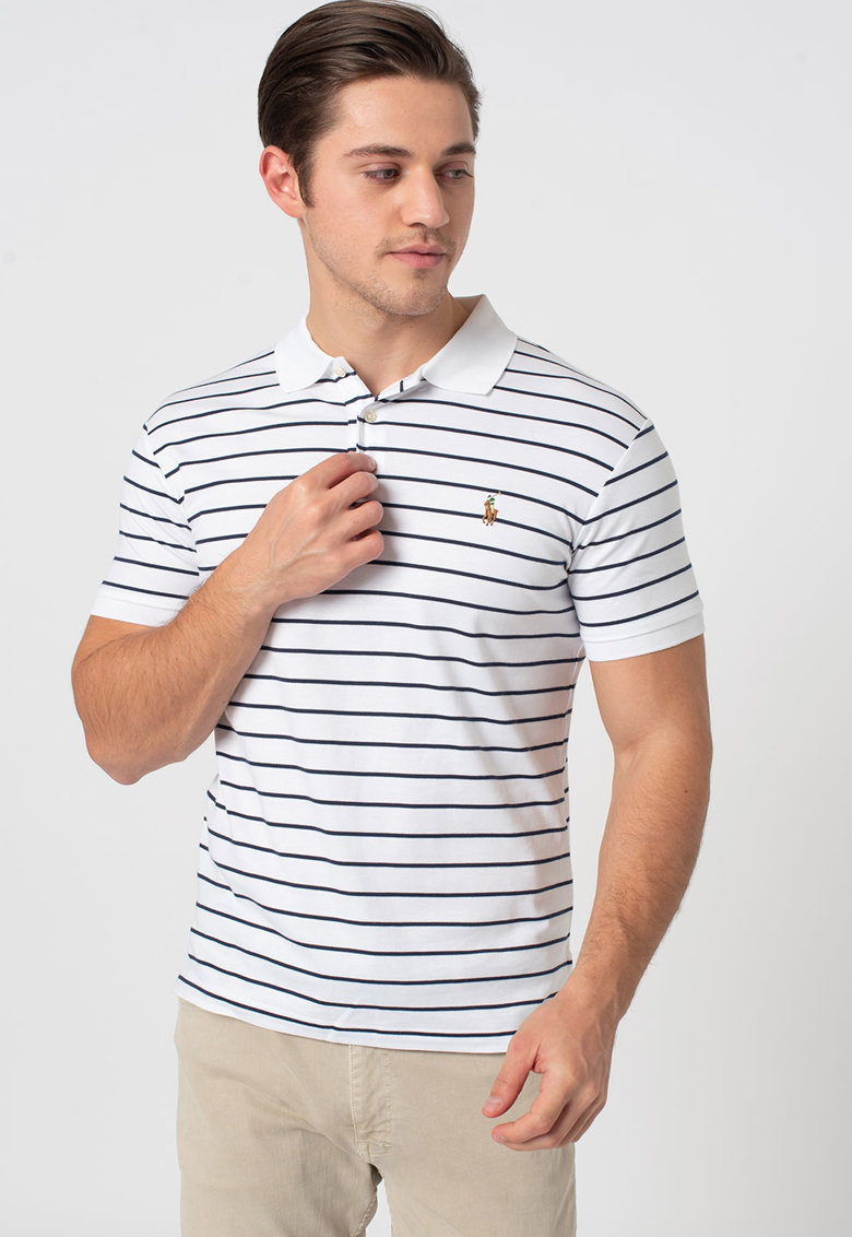 Tricou polo slim fit in dungi