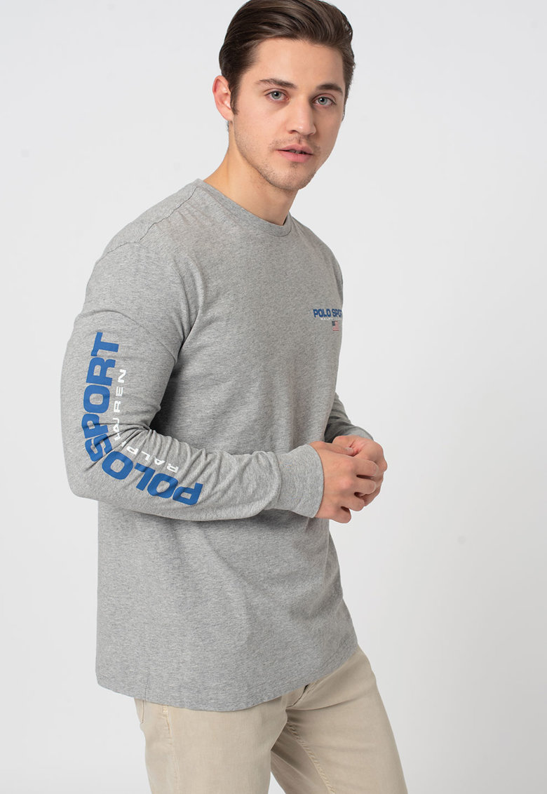 Bluza cu imprimeu logo imagine