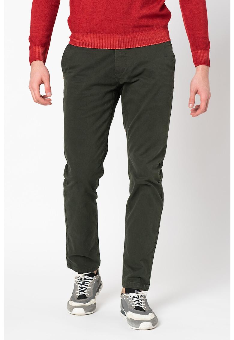 Pantaloni chino conici cu aspect texturat Napier