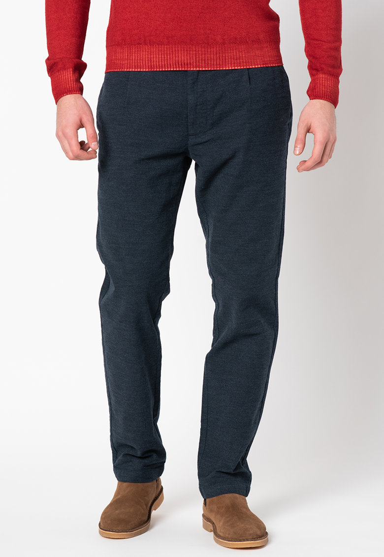 Pantaloni chino conici din material elastic Wellington