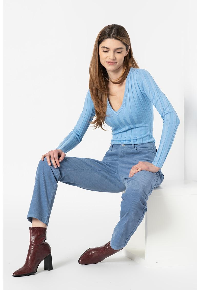 Pantaloni din reiat cu 5 buzunare
