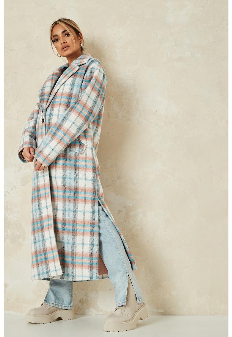 Palton in carouri cu slituri laterale adanci