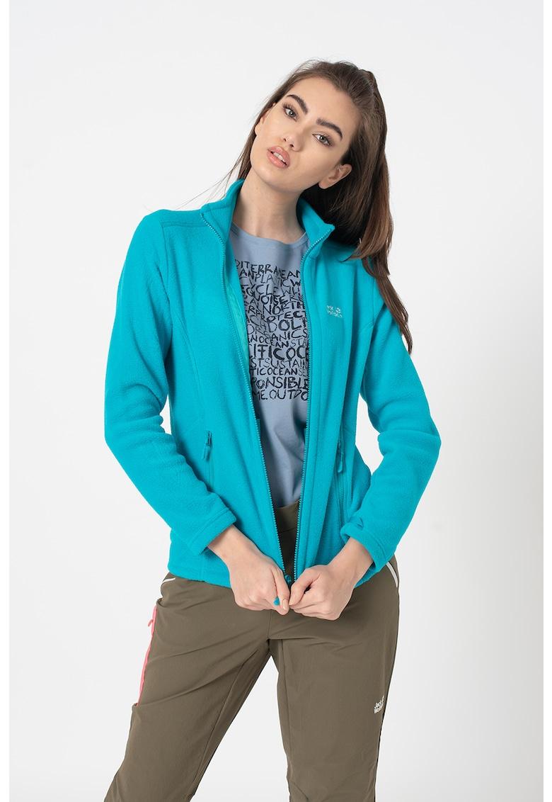 Bluza sport din material fleece cu fermoar Moonrise imagine fashiondays.ro Jack Wolfskin
