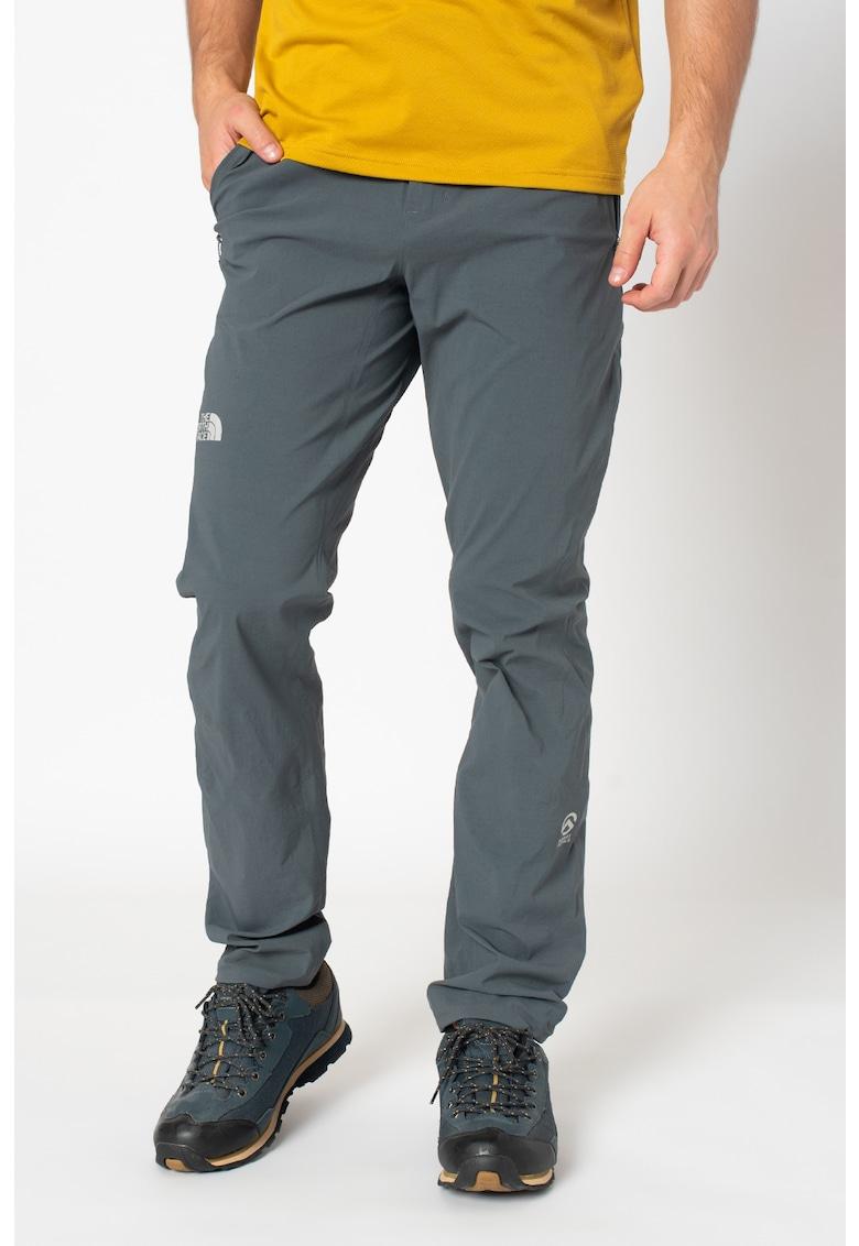 Pantaloni slim fit cu finisaj impermeabil - pentru drumetii SUMMIT L1