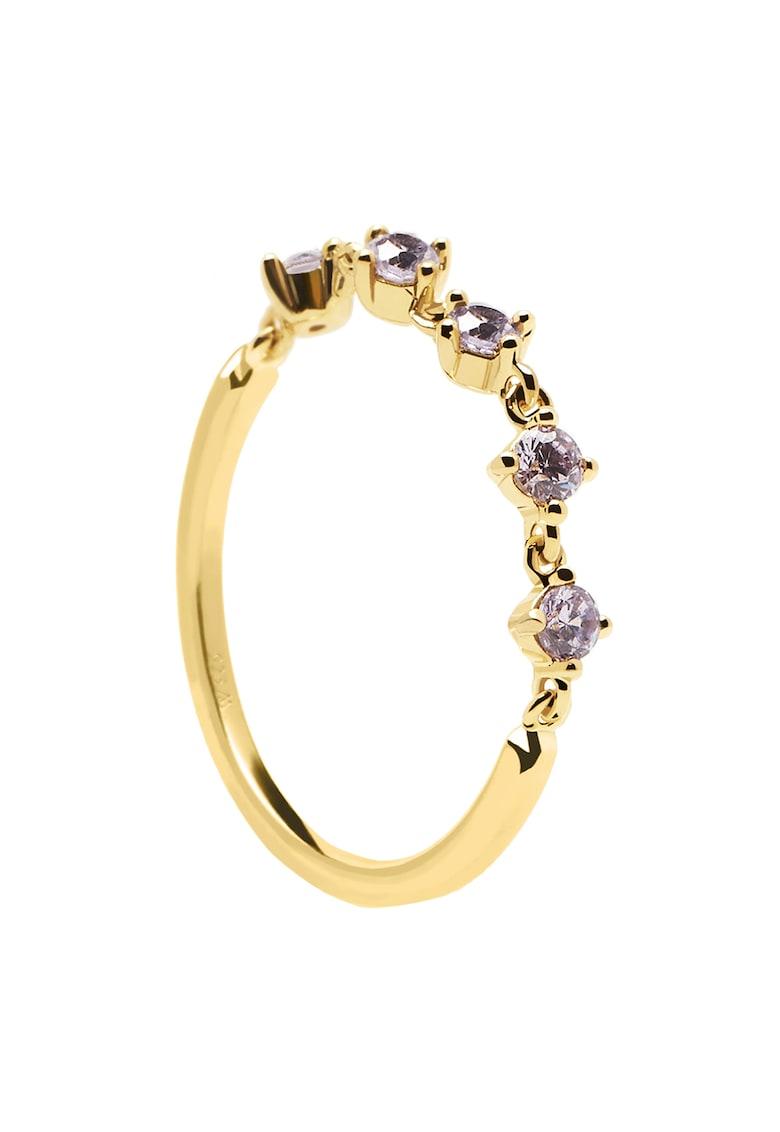 Inel placat cu aur de 18K si zirconia Victoria poza fashiondays