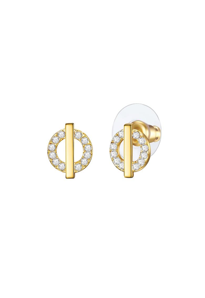 Cercei placati cu aur decorati cu cristale fashiondays.ro
