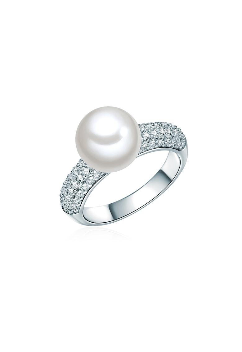 Inel decorat cu perle organice si cu cristale din zirconia de la Clara Copenhagen