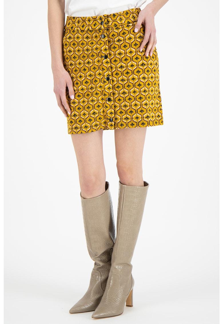Silvian Heach Collection Fusta mini cu model geometric
