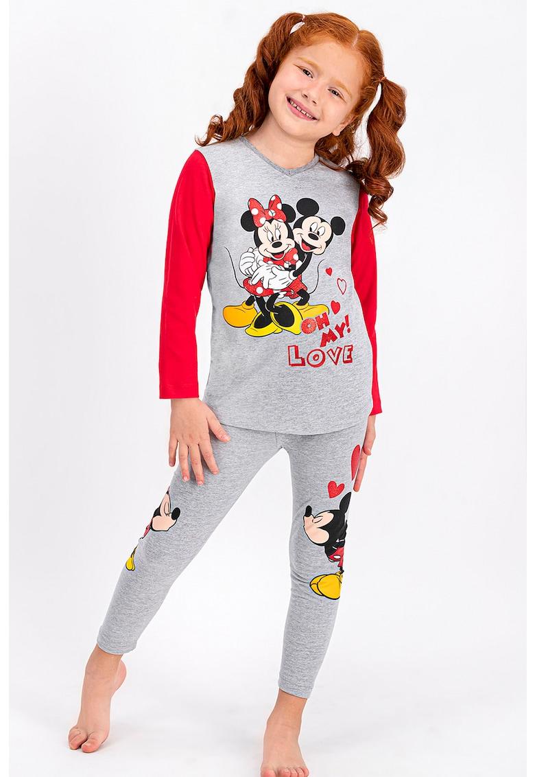 Disney Pijama cu imprimeu Mickey si Minnie Mouse