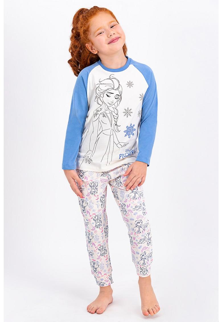 Disney Pijama cu tematica Frozen si maneci raglan