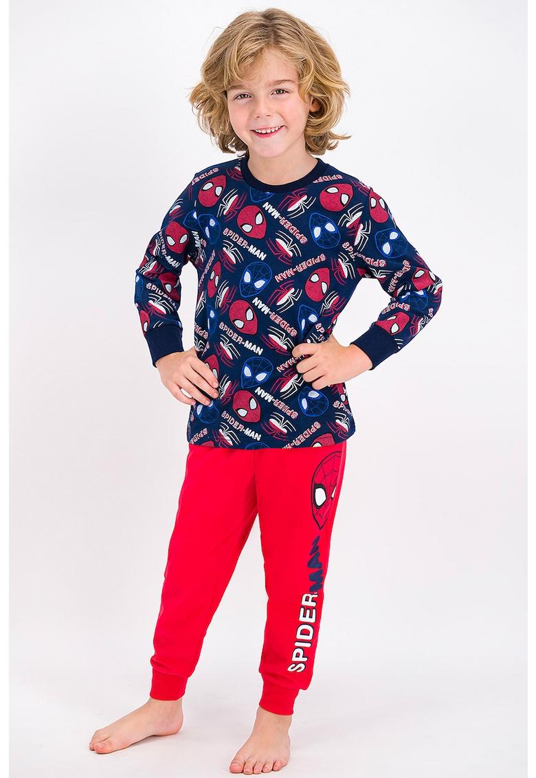 Pijama cu decolteu la baza gatului si imprimeu Spiderman de la Disney