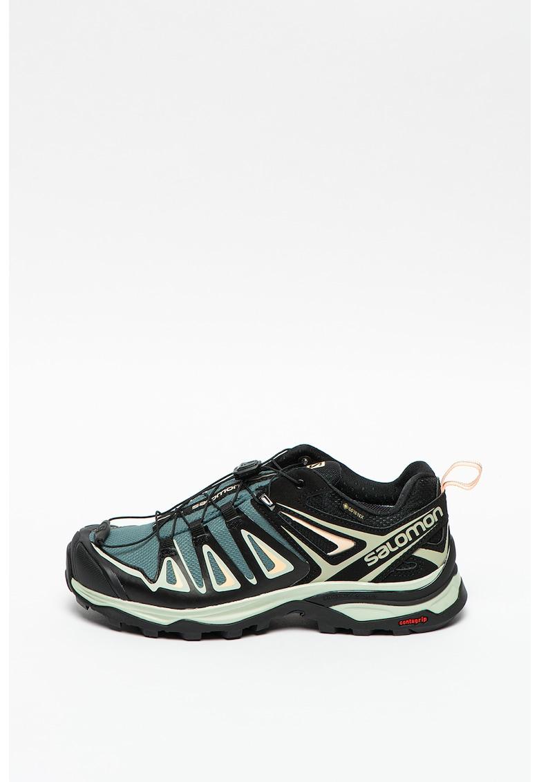 Pantofi cu insertii de piele ecologica pentru drumetii X Ultra 3 GTX
