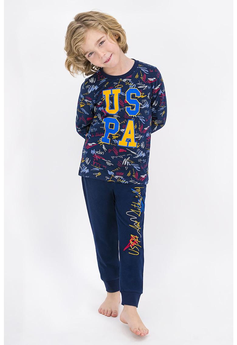 Pijama cu model grafic de la US Polo Assn