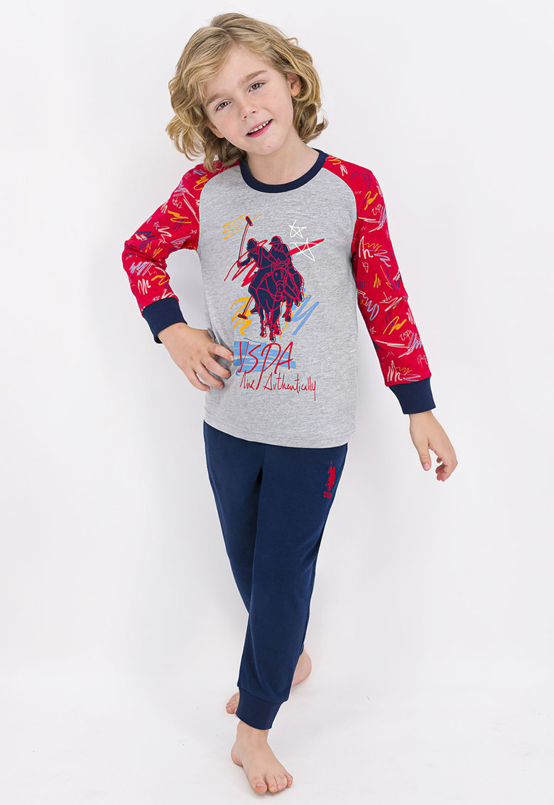 Pijama cu imprimeu logo imagine fashiondays.ro