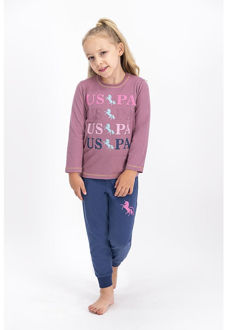 Pijama cu imprimeu imagine fashiondays.ro