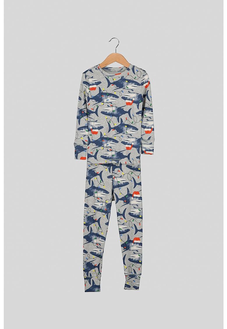 Pijama de bumbac cu imprimeu