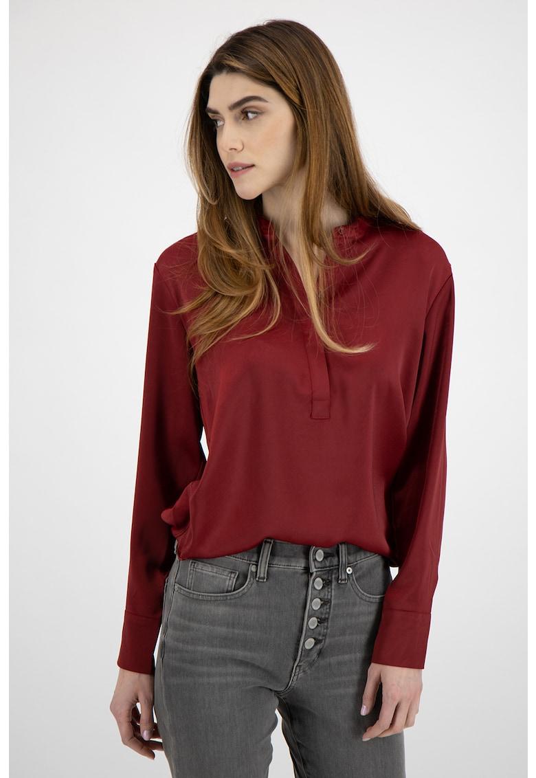 Bluza tip tunica cu aspect satinat