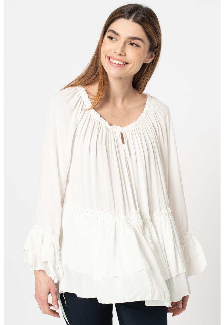 Bluza lejera cu volane imagine fashiondays.ro