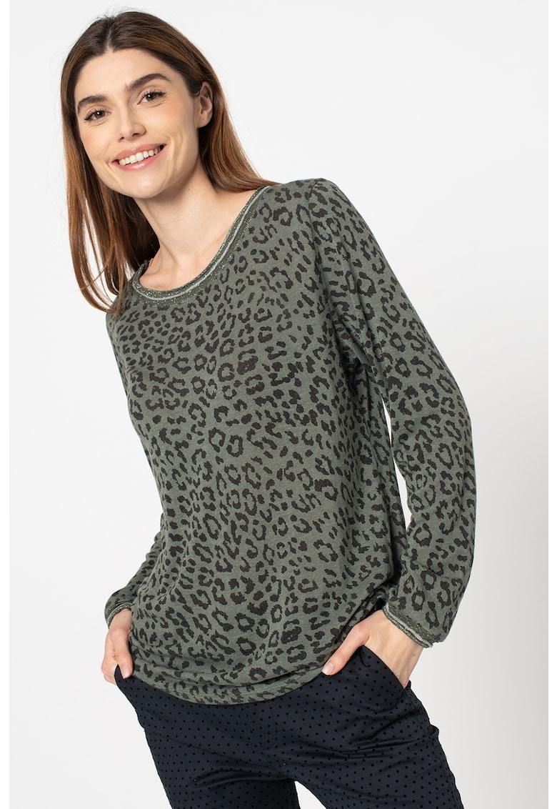 Bluza cu animal print Parvina imagine