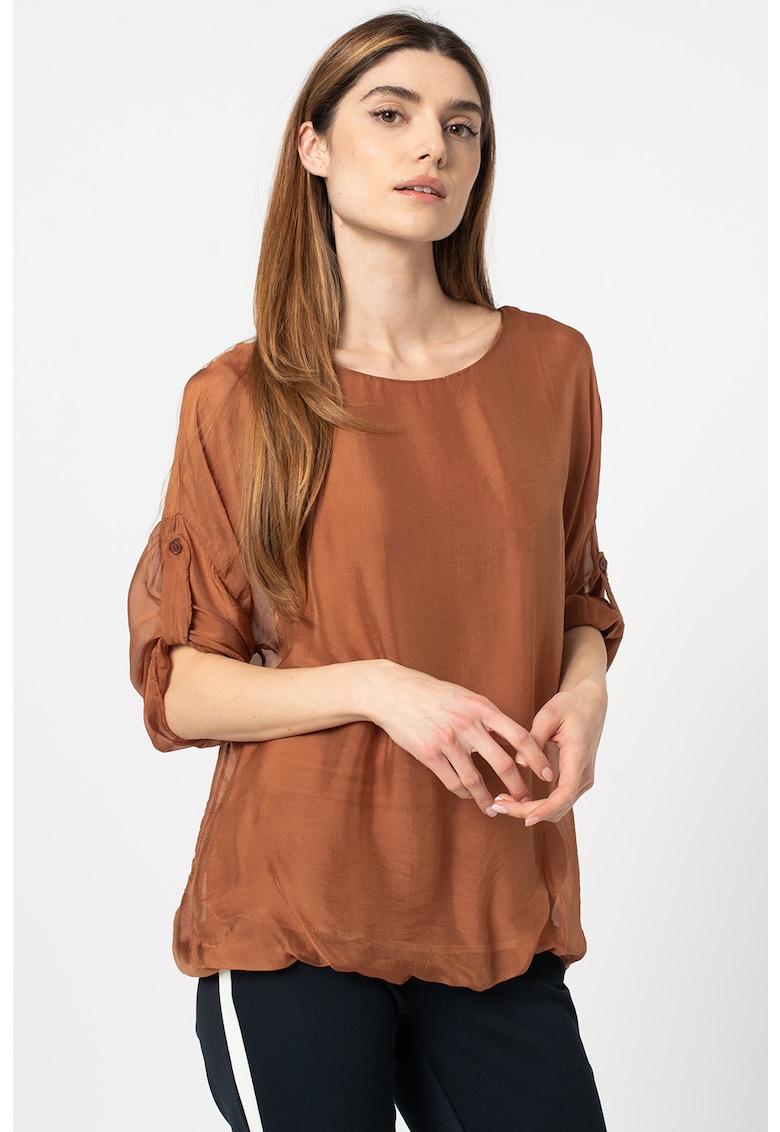 Bluza vaporoasa cu maneci ajustabile Z ONE by ZABAIONE fashiondays.ro
