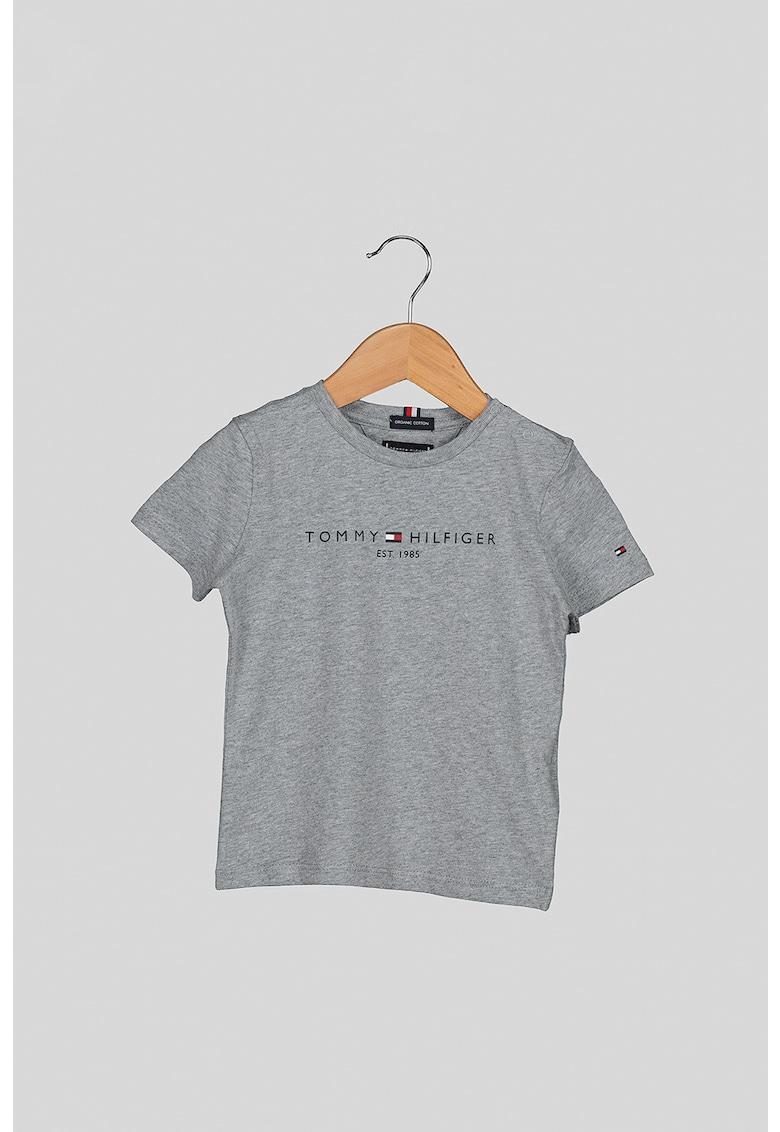 Tricou de bumbac organic cu imprimeu logo imagine