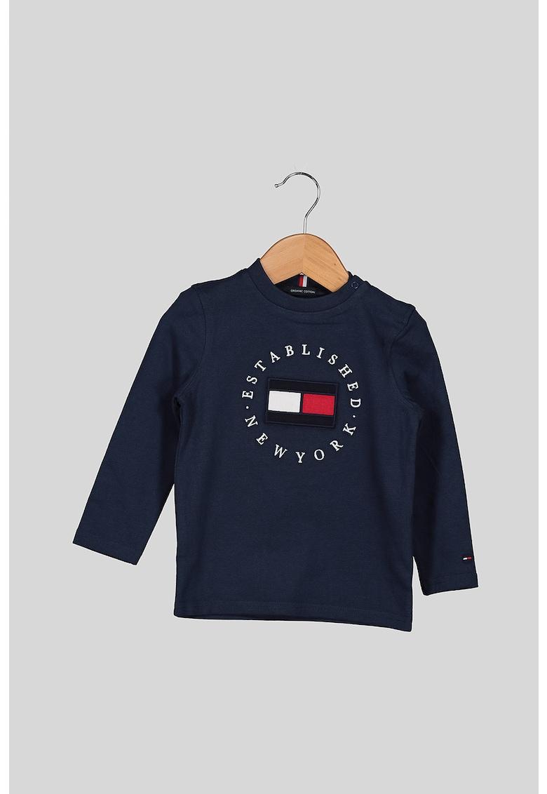 Bluza de bumbac organic cu logo brodat imagine
