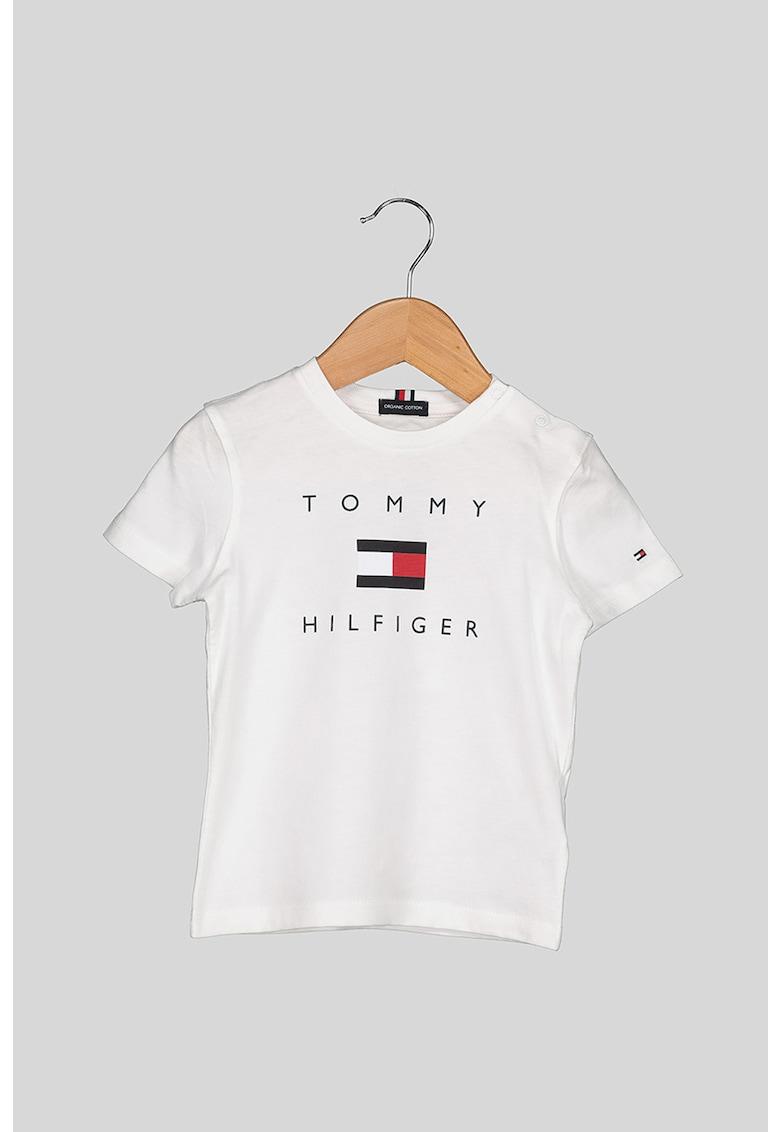 Tricou de bumbac organic cu imprimeu logo F