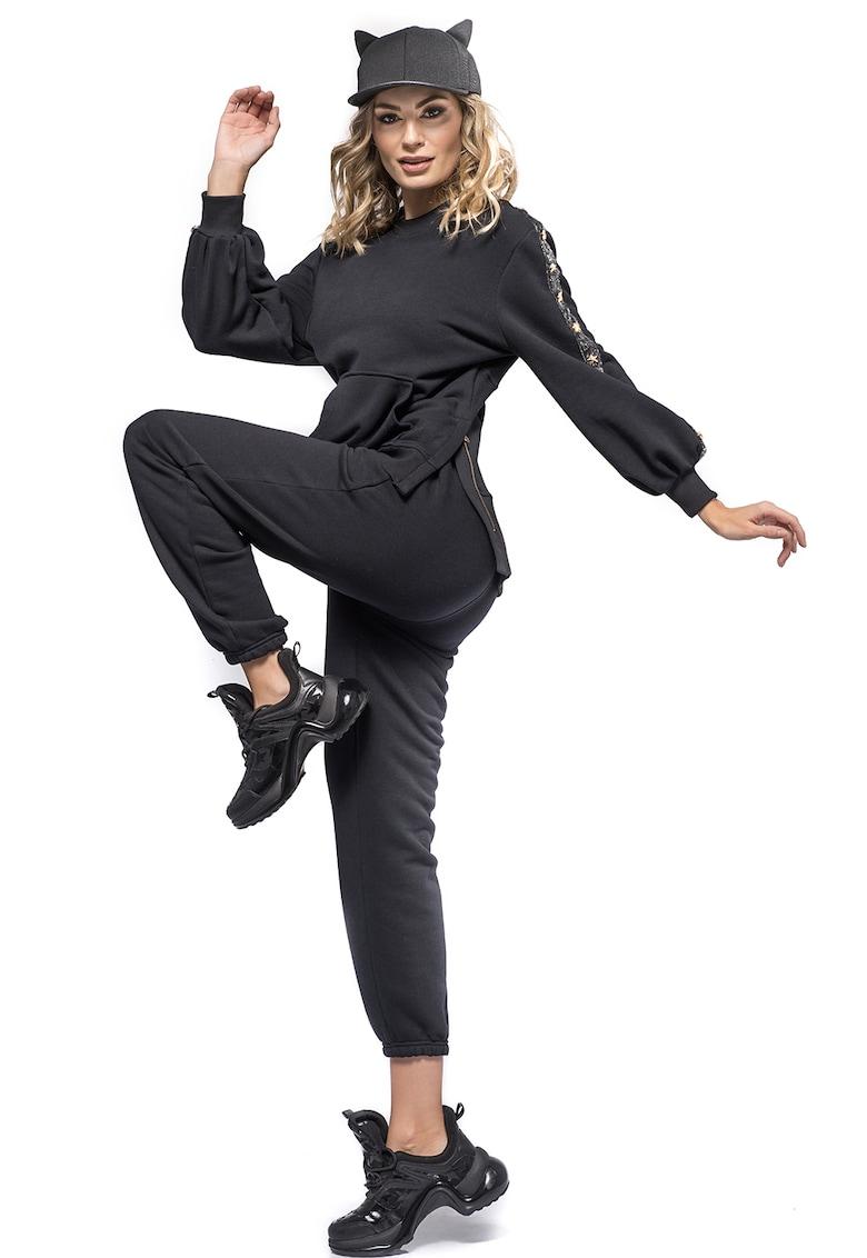 Pantaloni sport cu mansete elastice Lucy
