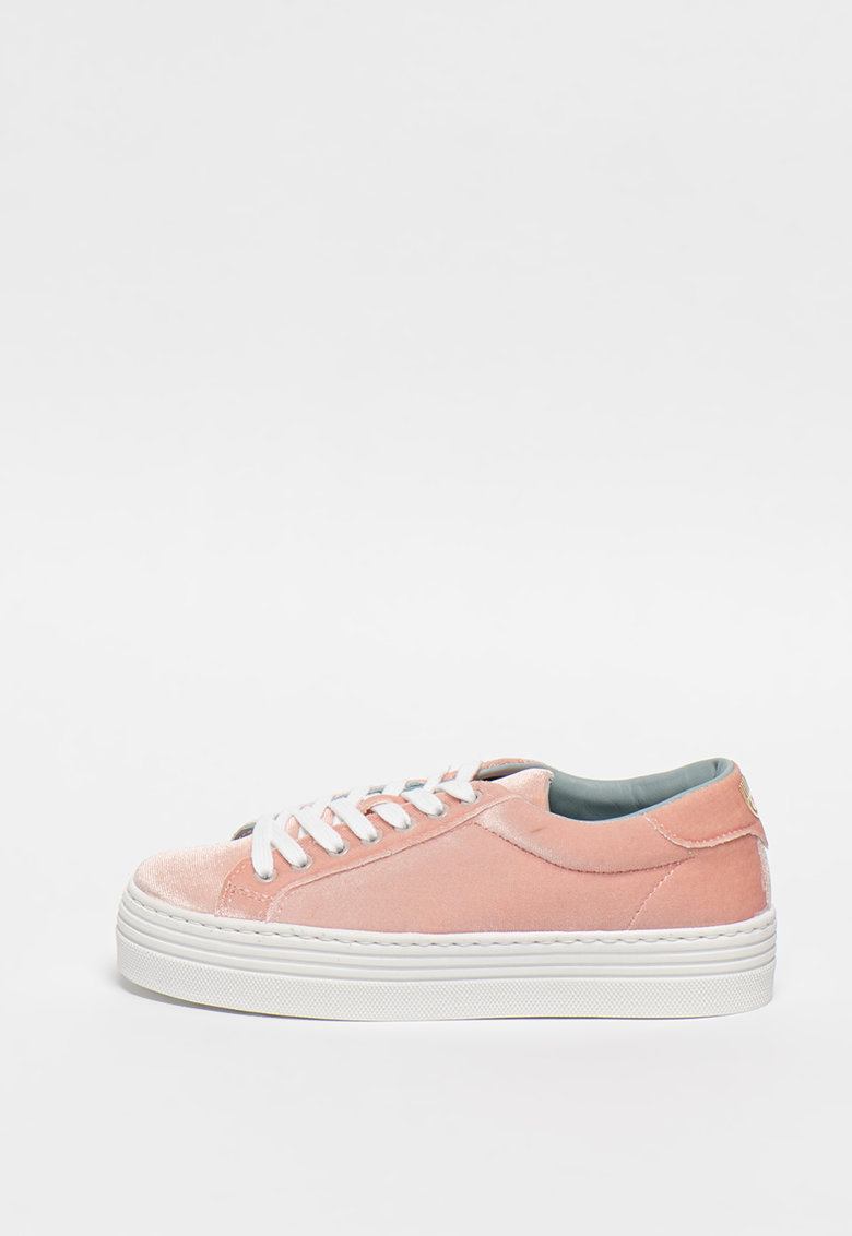 Pantofi sport flatform de catifea
